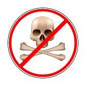sign prohibiting piracy