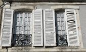 picture of poitiers  - Classic windows on a 19th century townhouse in Poitiers France - JPG