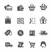 Shopping icons set.
