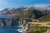 picture of bixby  - The Historic Bixby Bridge at Big Sur California - JPG