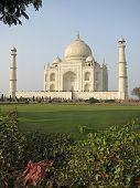 image of mumtaj  - The Taj Mahal was built at Agra Uttar Pradesh India by Emperor Shah Jahan as a mausoleum for his wife Mumtaj in 1631 AD - JPG