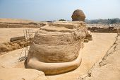 Ancient statue of Sphinx in Giza