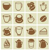 Vector Set Of Coffee And Tea Icons