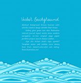 vector blue background with ocean waves