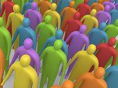 Veelkleurige menigte #4