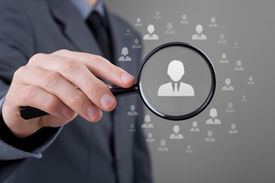 picture of gender  - Human resources CRM data mining and social media concept  - JPG