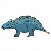 stock photo of ankylosaurus  - hand drawn vector sketch illustration of ankylosaurus - JPG