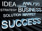 picture of marketing strategy  - Business strategy and objective concept 3d illustration - JPG