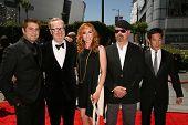 Tory Belleci, Adam Savage, Kari Byron, Jamie Hyneman and  Grant Imahara at the 2010 Primetime Creative Arts Emmy Awards,  Nokia Theater L.A. Live, Los Angeles, CA. 08-21-10