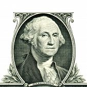 George Washington on one dollar