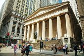 Federal Hall National Memorial At The Wall Street In New York