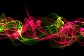 pic of twist  - abstract colorful twisted waves on a black background - JPG