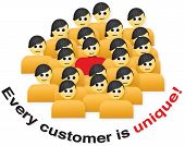 foto of clientele  - Illustrating that every customer is unique - JPG