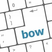 Bow Button On Computer Pc Keyboard Key