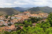 Panoramic View Of Ouro Preto, Brazil