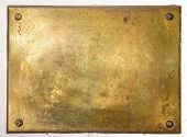 Yellow Brass Metal Plate Border