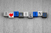 I Love Sailing, Sign For Watersports