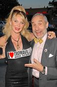 Shelley Michelle and Lloyd Kaufman  at the 35th Troma Anniversary Event, New Beverly Cinema, Los Ang