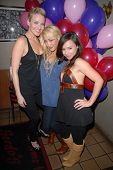 Brianne Davis, Jennifer Blanc-Biehn and Danielle Harris at Jennifer Blanc-Biehn's Birthday Party, Sardos, Burbank, CA. 04-23-10