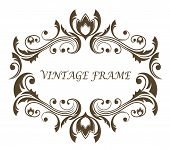 Vintage floral and foliate frame