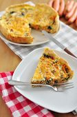 Carrot Spinach Quiche