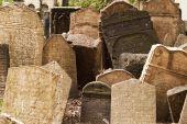 Headstones In Jewish Graveyard