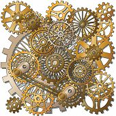 stock photo of steampunk  - the gears in the style of steampunk - JPG