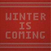 Knitted Pattern. Winter is Coming