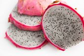 Slices Of Fresh Dragon Fruit