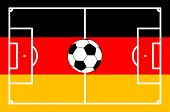 Football Field German Background - Vector Illustration