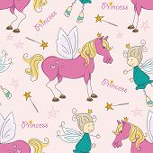 Princess seamless pattern.