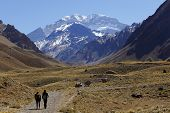 Aconcagua, the highest mountain in the Americas at 6.960 mts., located in the Andes mountain range i
