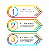 Modern Option Banners. Colorful Lines And Numbers On White Background. Vector Illustration.
