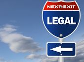 Legal road sign