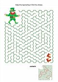 Maze game - help leprechaun find his shoes