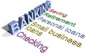 Banking business financial services list checking saving loans