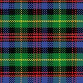 Vector Seamless Pattern Scottish Tartan Black Watch