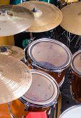 pic of drum-kit  - A closeup take of a classic drum kit - JPG