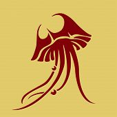 Vector jellyfish icon