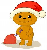Teddy bear Santa Claus