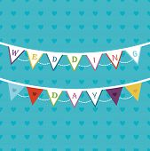 Bunting theme wedding card