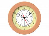 Wooden Round Wall Clock With Day Indication