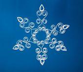 Paper Christmas snowflake