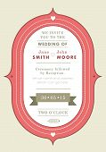 Wedding invitation red badge theme