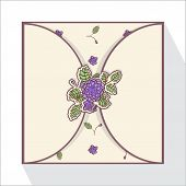 Greeting card with abstract roses.