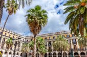 Barcelona - May 2:  Placa Reial On May 2, 2014 In Barcelona, Catalonia.the Royal Plaza Is A Square I