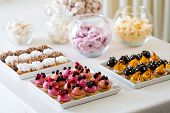 picture of petition  - A petit four - small confectionery or savoury appetizer