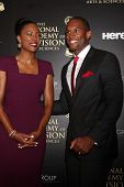 LOS ANGELES - JUN 22:  Aisha Tyler, Lawrence Saint-Victor at the 2014 Daytime Emmy Awards Arrivals a