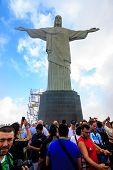 Christ The Redeemer In Rio De Janeiro.
