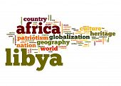 stock photo of libya  - Libya word cloud image with hi - JPG